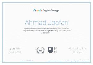 گواهینامه اصول بازاریابی دیجیتال